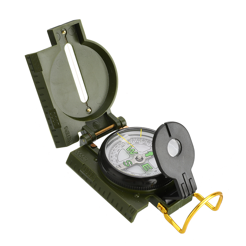Multifunction Portable Folding Lens Compass Military Boat Dashboard Navigation Compass Dash Mount Outdoor Camping Hiking Surviva
