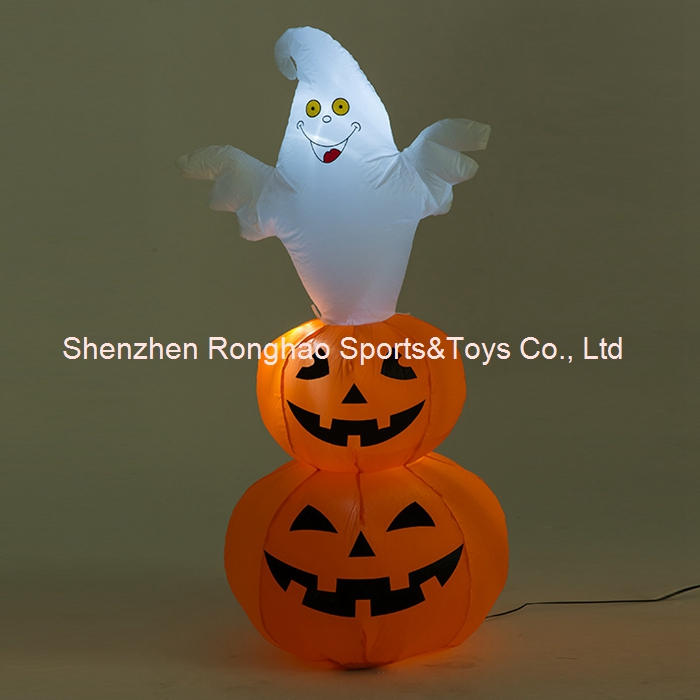 4 foot lighted inflatable halloween pumpkin and ghost blow up yard decorationchina