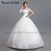 Luxurious Crystal Beading Ball Gown Wedding Dresses 2015 Short Sleeves Lace Wedding Gowns White Sequines Vestidos