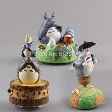 Figura de acción de Totoro bonito caja de música, muñecos coleccionables, juguetes para niños, regalos de navidad MHFG030