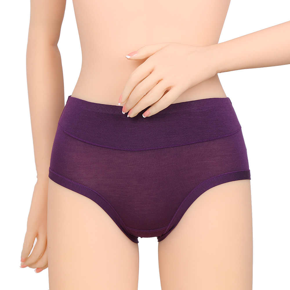 Women Fashion Health Tech Bamboo Fiber Antibacterial Panty Lady Girl Mid-Rise Underpants Briefs Underwear