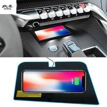Darmowa wysyłka 2RD szybkie specjalne na pokładzie telefon bezprzewodowy panel ładowania akcesoria samochodowe dla Peugeot 4008 5008 2017 2018