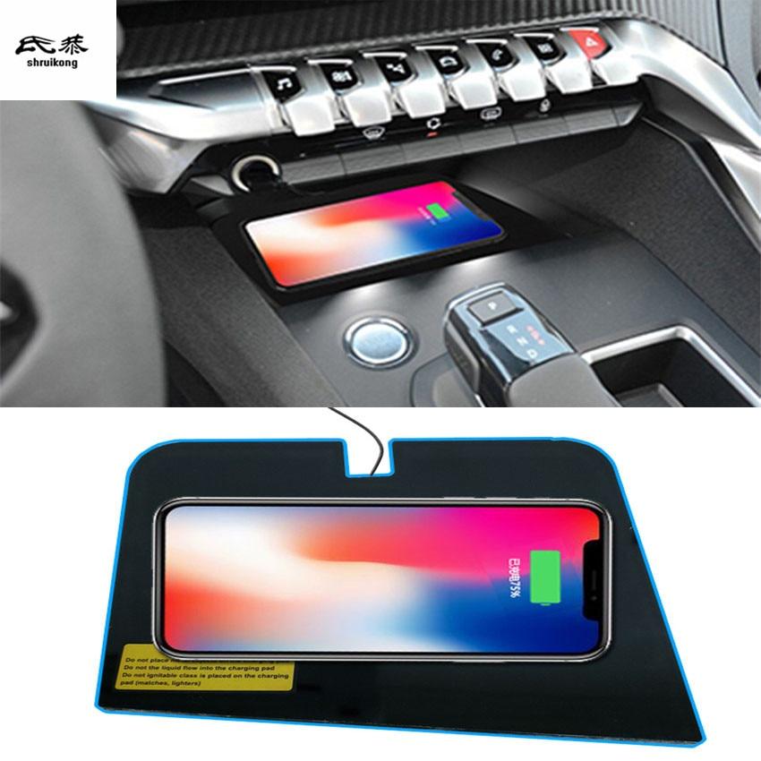 Бесплатная доставка, специальная Бортовая беспроводная панель для зарядки телефона 2RD quick, автомобильные аксессуары для Peugeot 4008 5008 2017 2018