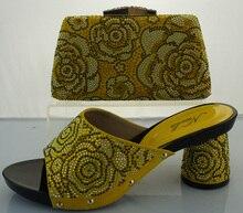 Heißer Verkauf Italienische Passenden Schuh Und Tasche Sets Mit Strass mode Afrikanische Frauen Schuhe Und Tasche Set Für Nigeria Hochzeit ME2215