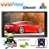 AMprime 2 din 7 HD Car Radio GPS Navigation Player Camera Autoradio Bluetooth AUX MP3 MP5 Stereo FM Audio USB Auto Electronic