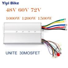 UNITE контроллер бесщеточного двигателя постоянного тока 48 в 60 в 1000 Вт DC бесщеточный контроллер для электрического велосипеда, поворотный контроллер дроссельной заслонки Электрический скутер