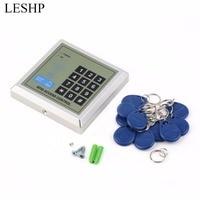 LESHP Security Elektronische RFID Proximity Entry Deurslot Toegangscontrole Systeem 10 Sleutelaanhangers Wachtwoord Toegangscontrole Deuropener