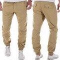 Mens Joggers 2016 Marca Pantalones Masculinos Hombres Pantalones Casuales pantalones de Chándal Basculador Pantalones de Color Caqui Pantalones de Chándal Tamaño de Asia