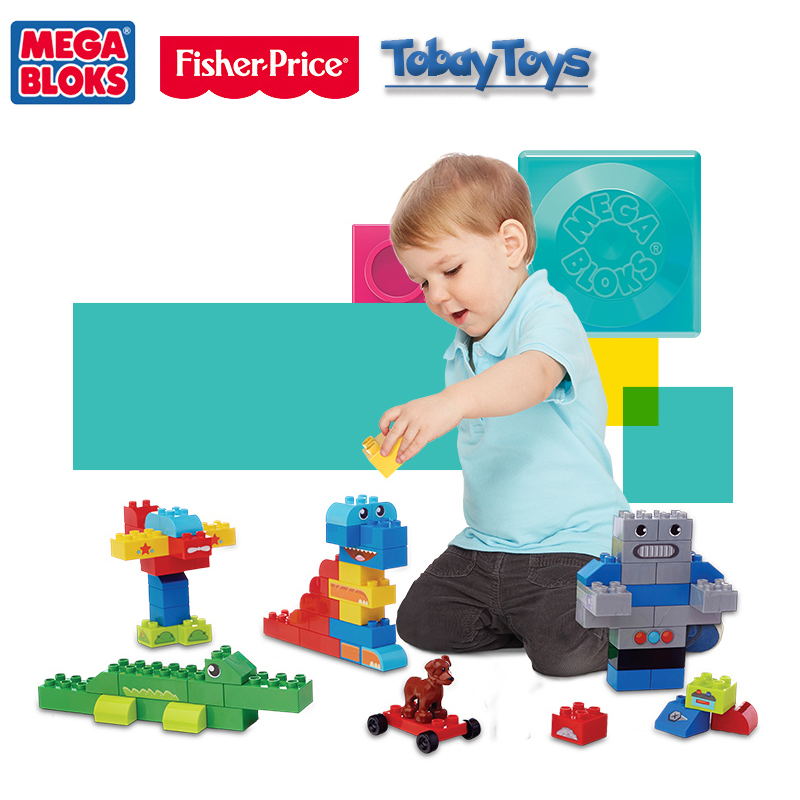 Genuine Fisher Price Mega Bloks Brick Toy Middle Builders Series Build My World Block Accessories CYR23 Storage Box Bloco FBC11 genuine brand mega bloks brick toy first builders series imagination building diy toy ffy 49 place a i imagination cxp09