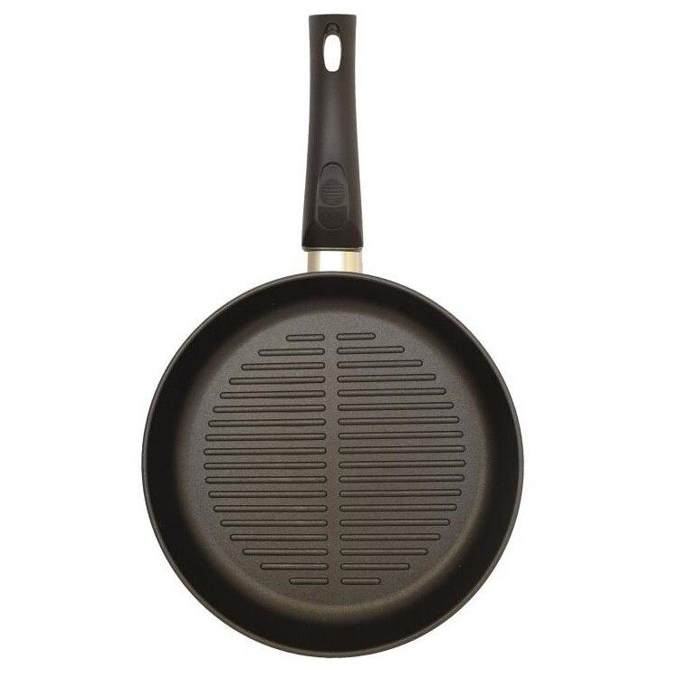 Сковорода-гриль Нева металл посуда, Литая, Оригинальная, 24 см