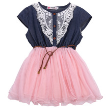 Girl Clothing Summer Denim Dress for Girls Brand Kids Girl Jeans Tutu Dress Cute Beautiful Top Quality Children Dresses