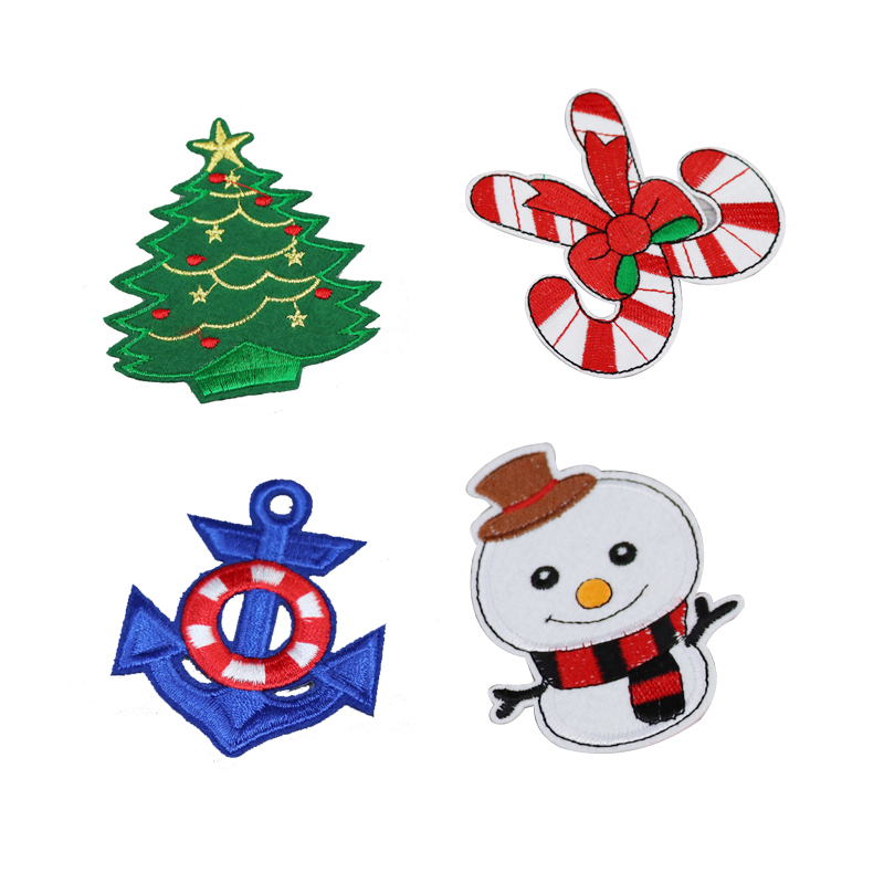 Christmas Tree Patch: Christmas Snowman Tree Iron On Patches Embroidered Patches