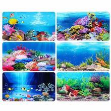Fish Tank Background Painting 3D Ocean Landscape Poster Aquarium Decorative Decals Drop Shipping