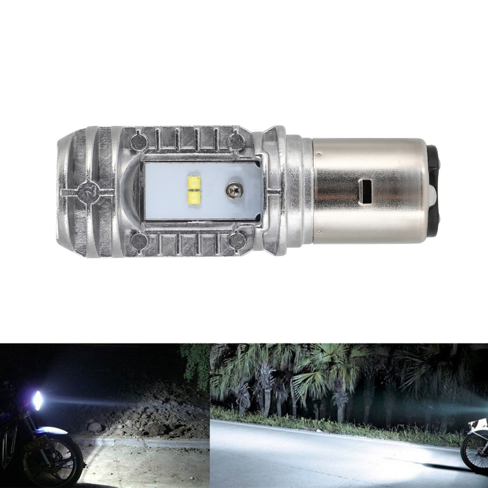 BA20D Hi/Lo 36W 2000lm 6000K 9-85V Motorcycle ATV LED Bulb DRL Headlight Fog Light Lamp 1pc D0