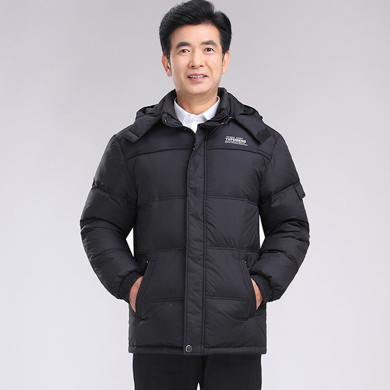 HRM Spring and winter in elderly men down jacket thick warm coat jacket loose fitted Dad hrm in europe