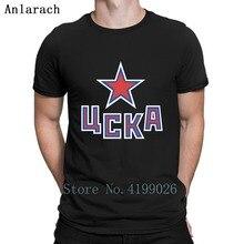 купить Hc Cska Moscow Khl Russian Professional Hockey T Shirt Character Short Sleeve Mens T-Shirt Spring Autumn Comfortable Men Tops дешево