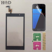 טלפון מסך מגע Digitizer עבור Micromax A104 מגע מסך בד אש 2 לוח מגע חיישן קדמי זכוכית חיישן מגן סרט