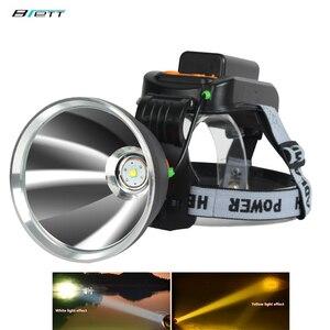 Lâmpada de cabeça led lanterna cree xhp70.2 ou l2 luz 50 w chip 6000 lumens carregamento direto ao ar livre à prova dwaterproof água bicicleta led farol