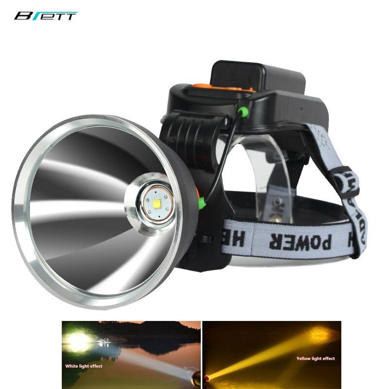 Lampe frontale Led lampe de poche Cree xhp70.2 ou L2 lumière 50 W puce 6000 Lumens charge directe extérieure étanche phare de vélo à Led