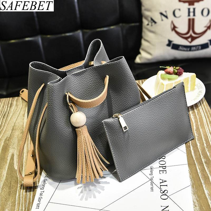 SAFEBET Brand 2018 Fashion High Quality PU Leather Designer Bucket bags Crossbody bags Women Handbags Shoulder bags Messenger Ba