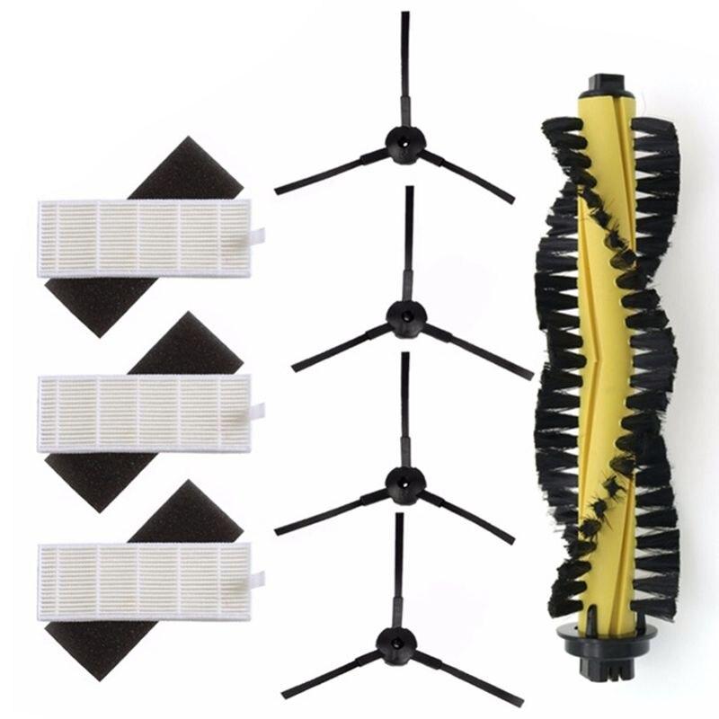 Hot Sale 1xMain Brush+3xHEPA Filter+3xSponge+4xSide Brushes For Vacuum Cleaner Parts Polaris Ilife A4 T4 X432 X430 X431