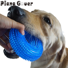 S/L Squeak Chew Pet Toys Thorn Circle Ring For Large Dogs Training Funny Chew Small Dog Toys Sound Interactive Durable