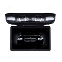 XTRONS 15.6 HD Wide Screen Car DVD Player Roof Mount Flip Down Monitor 1366*768 /170 Max Open Angle/Built in IR FM/32 Bit Games