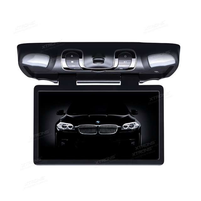 XTRONS 15.6 HD Wide Screen Car DVD Player Roof Mount Flip Down Monitor 1366*768 /170 Max Open Angle/Built-in IR FM/32-Bit Games