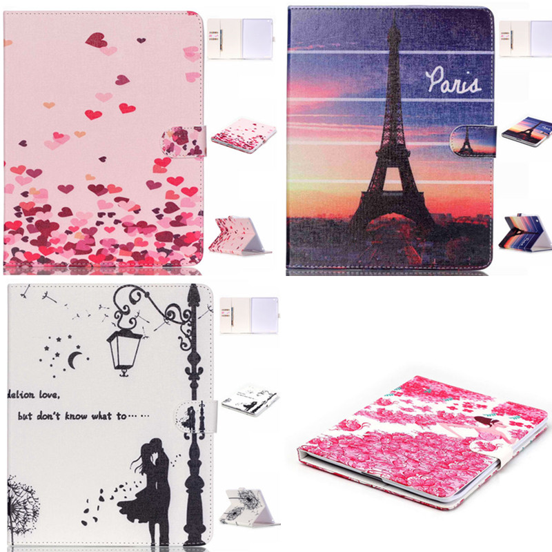 HX Fashion Ultra Thin Magnetic buckle  PU Leather  Case For Apple iPad 2 3 4 Cute Cover Tablet PC cases For Ipad2 IPad3 ipad4
