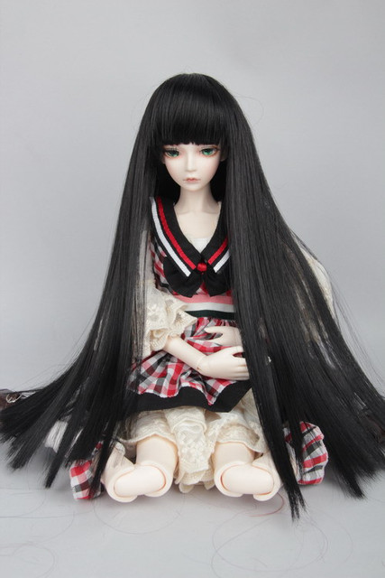 1/3 1/4 1/6 BJD doll wigs hot wire parallel bangs straight hair ...
