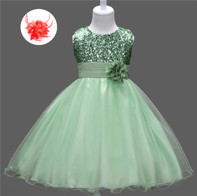 Cheap Flower Girl Clothes for Weddings Short Green Pageant Dresses ...