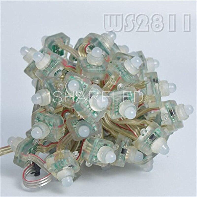 Image 4 - 50pcs T1515 WS2811 Full Color RGB Pixel LED Module Light String DC Cystal 12V/5V IP68 12mm Waterproof-in LED Strips from Lights & Lighting