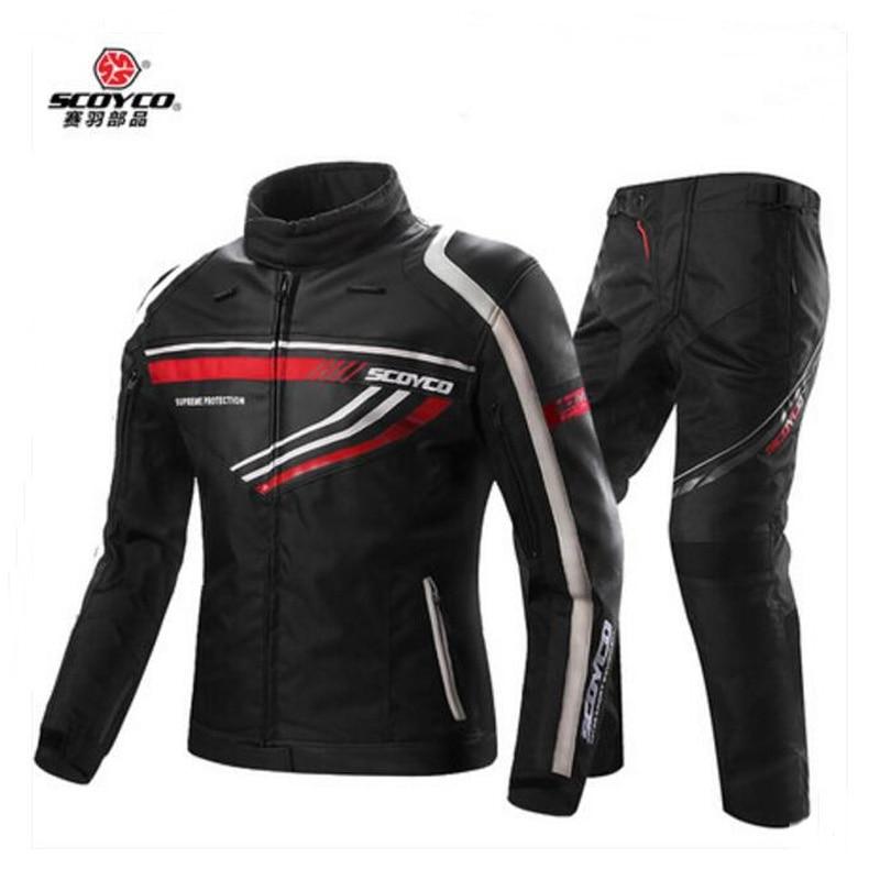 2017 nouveau SCOYCO moto cross moto rbike ride veste pantalon moto racing costumes lutte moto rcycle vêtements pantalon P027 vestes JK37
