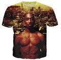 2015 new men/women t shirt 3d tupac Amaru Shakur 2PAC/Notorious B.I.G. print tshirt hip hop fashion rock t-shirt camisetas