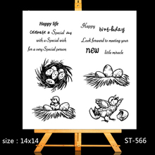 ZhuoAng Happy newborn Clear Stamps/Card Making Holiday decorations For  scrapbooking Transparent stamps 14*14cm