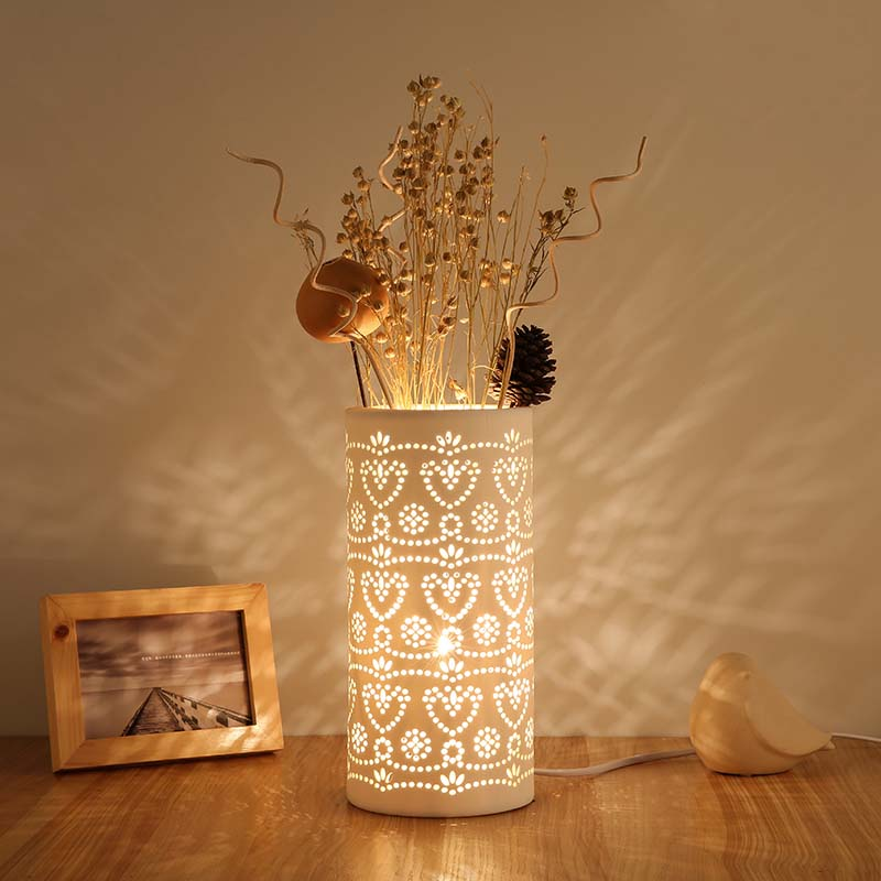 Creative DIY Flower Ceramic Table Lamps Bedroom Modern Bedside Lamp Decorative Lights Led Lamp Table E27 Lampe de Table цена