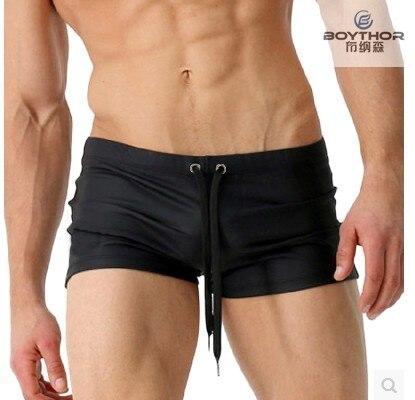 BOYTHOR Boxer-Shorts Sexy Custom-Made Swimming-Trunks Waist Plain Small Men's Are Brand-New
