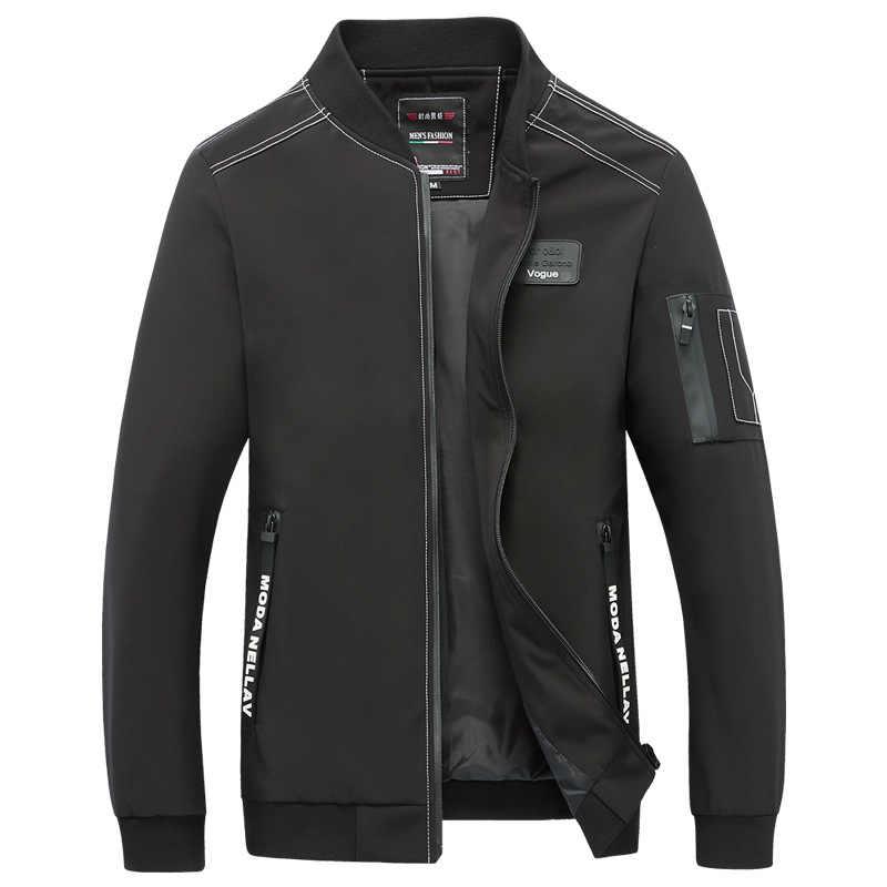 Мужская куртка на каждый день для колледжа, весна-осень 2019, Мужская брендовая Классическая ветровка, тонкое студенческое летнее пальто, мужское модное пальто 5XL