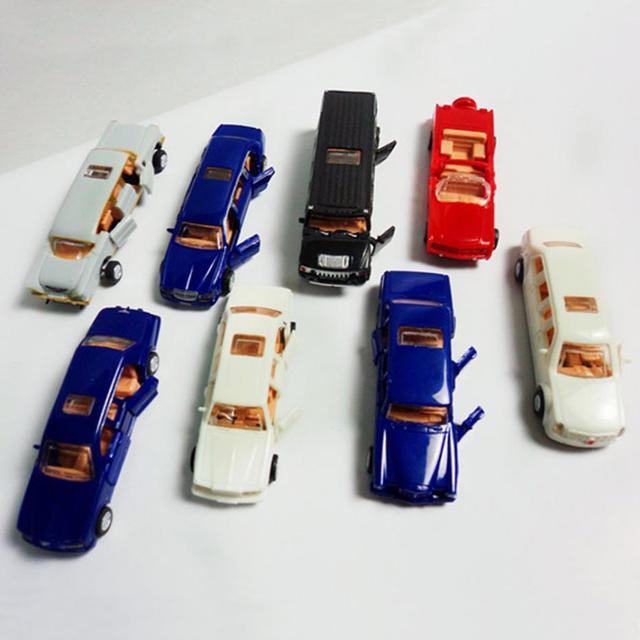 New 8 Pcs 4d Model Cars Assembling Cars 1 87 Ho Scale For Model
