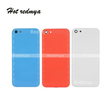 цена на Top quality For Apple iPhone 5C Back Battery Cover Rear Door Housing Case Middle Chassis +Sim Tray For iphone 5c obudowa