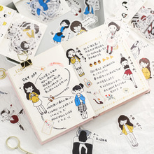 Salt-based Villain Washi Paper Sticker Pack Daily Hand-decorative Material DIY Character Diary Stickers