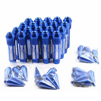 20Pcs 326 POWER Racing Super Long 130mm Racing Wheel lug Nuts bolts Spike Sport Style M12x1.5 With Crown Caps