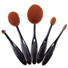 2017 5pcs Makeup Brushes Toothbrush Oval Brush Professional Foundation Powder Kit Oval Makeup Brush Set