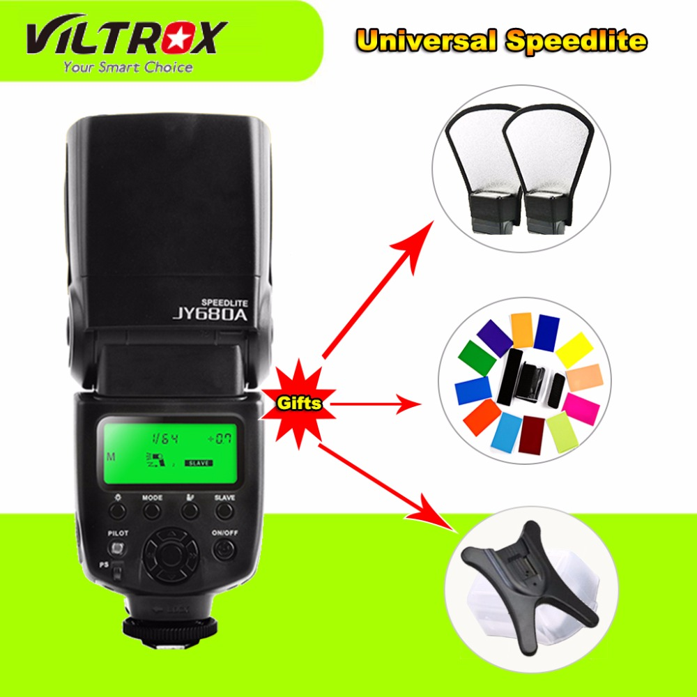 Viltrox JY-680A On-camera Flash GN33 Speedlite Flash Light JY680A with LCD Screen for Canon Nikon Sony Pentax Panasonics Camera viltrox jy 680a universal camera lcd flash speedlite for canon nikon pentax olympus dslr free 20 color gels filter