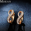 MDEAN Gold Plated women Earrings Round Punk CZ diamond Jewelry AAA zircon Hoop Earrings For Women fashion accessories MSE053