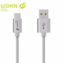 WSKEN USB Type C Cable 2.0 Cable USB-C Type-C Data Charger Cable For Xiaomi 4C 5 Oneplus