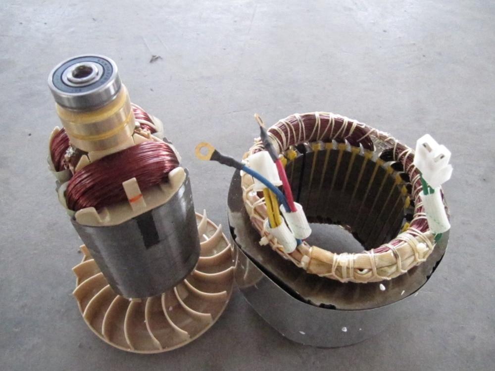 цена на Fast shipping 2.5kW 220V 50Hz Flat shaft 19 rotor stator gasoline generator diesel generator suit for any Chinese brand