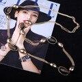 Ropa de largo collar de la nueva llegada elegante collar collar de perlas de calidad