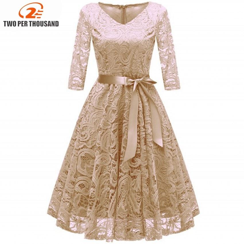 Lace Dresses Robes Vestidos-De-Festa V-Neck women Female Hollow-Out Autumn Femme Plus-Size