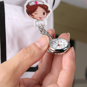 Lovely Cartoon Clip Pendant Pocket Watch for Nurse Doctor Clock Gifts Medical Clock Men Women New Arrival 2019